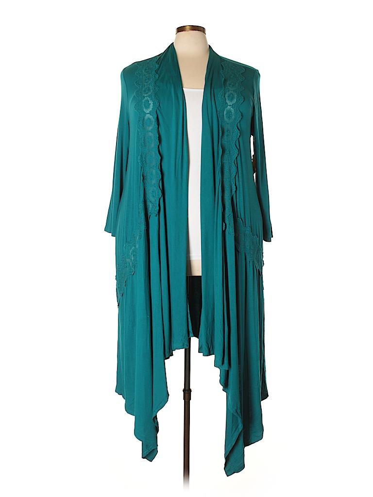 One World Women Cardigan Size 1X (Plus)