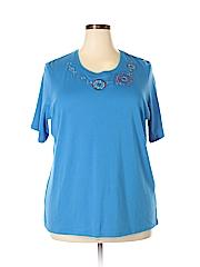 Allison Daley Women Short Sleeve T-Shirt Size 3X (Plus)