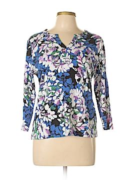 Rafaella 3/4 Sleeve Henley Size XL