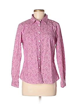 L.L.Bean Long Sleeve Button-Down Shirt Size M (Petite)