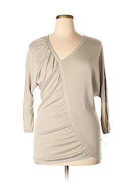Zero + Maria Cornejo 3/4 Sleeve Silk Top Size L