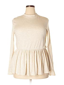 FASHION TO FIGURE Long Sleeve Top Size 0X Plus (0) (Plus)