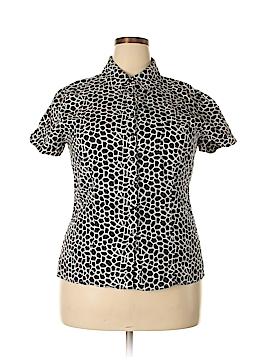 Kim Rogers Short Sleeve Button-Down Shirt Size XL (Petite)
