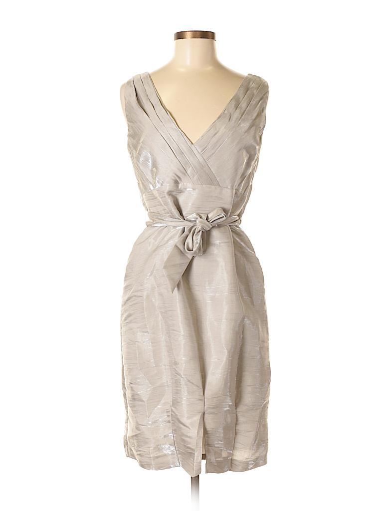 cf244273693 Antonio Melani Solid Silver Cocktail Dress Size 6 - 80% off