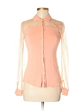 Princess Vera Wang Long Sleeve Button-Down Shirt Size S
