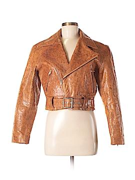 Michael Hoban Leather Jacket Size 7 - 8