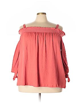 Karen Scott Long Sleeve Blouse Size 2X (Plus)