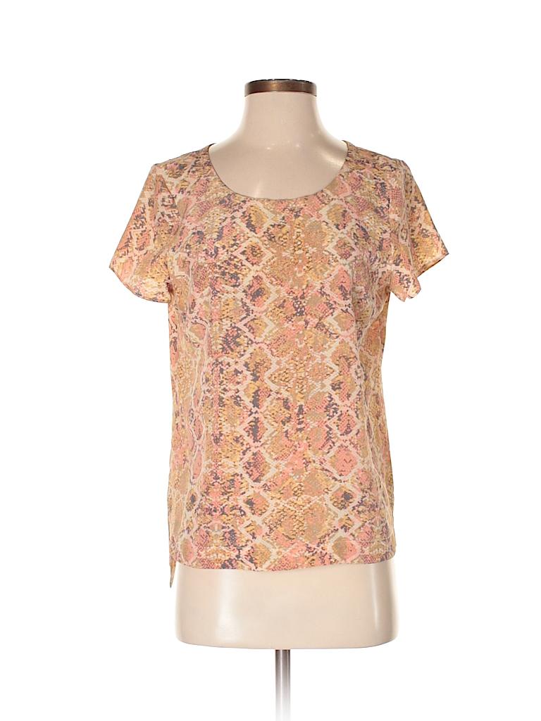 Fynn & Rose Women Short Sleeve Silk Top Size S