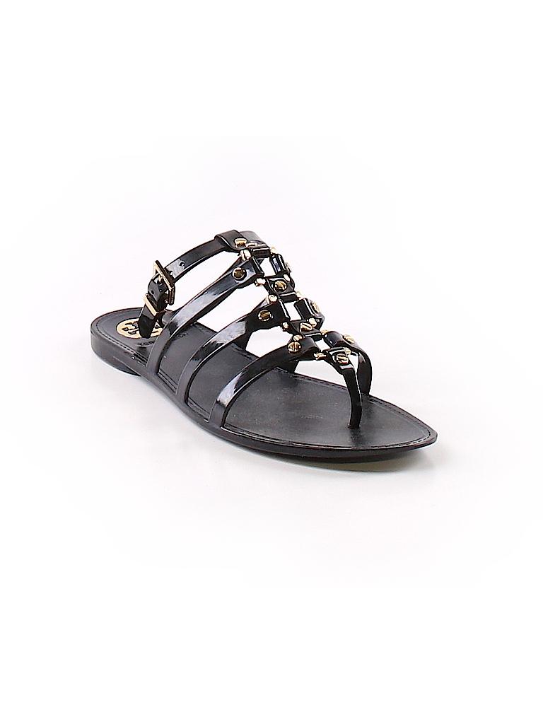 d80e7a34a Tory Burch Solid Navy Blue Sandals Size 7 - 87% off