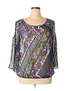 New York & Company 3/4 Sleeve Blouse Size XL