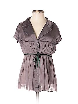 Alberta Ferretti Collection Short Sleeve Silk Top Size 4