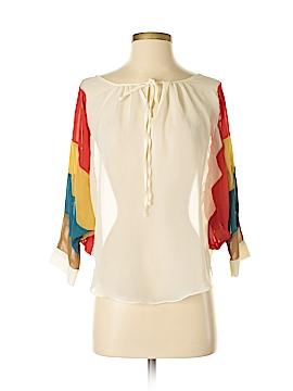Marineblu 3/4 Sleeve Blouse Size S