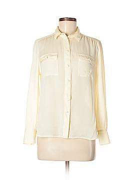 J. Crew Long Sleeve Silk Top Size 10 (Petite)