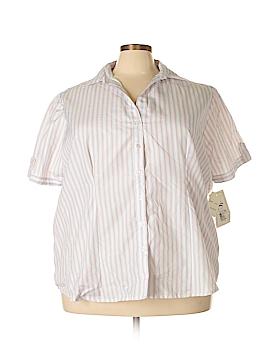 Harve Benard Short Sleeve Button-Down Shirt Size 3X (Plus)
