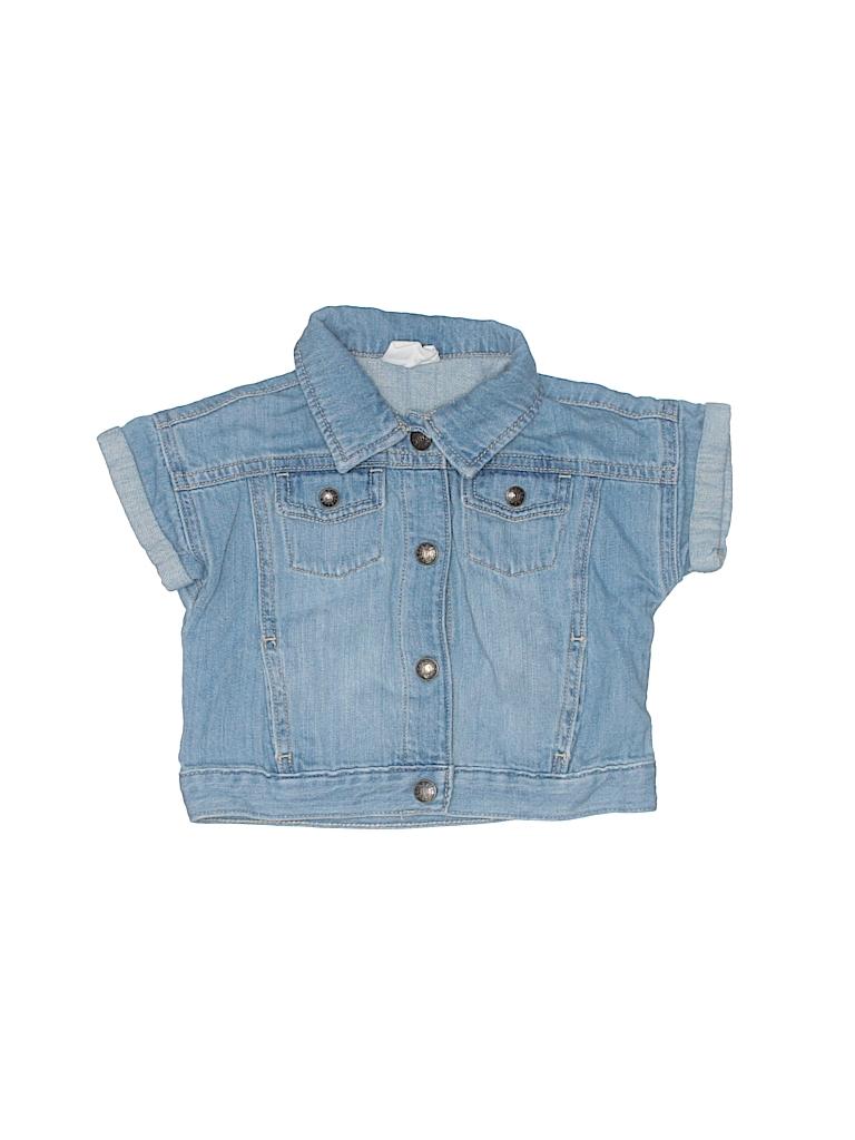 a9dfe2433 Crazy 8 100% Cotton Solid Blue Denim Jacket Size 2T - 86% off