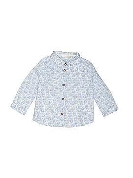 JoJo Maman Bebe Long Sleeve Button-Down Shirt Size 12-18 mo