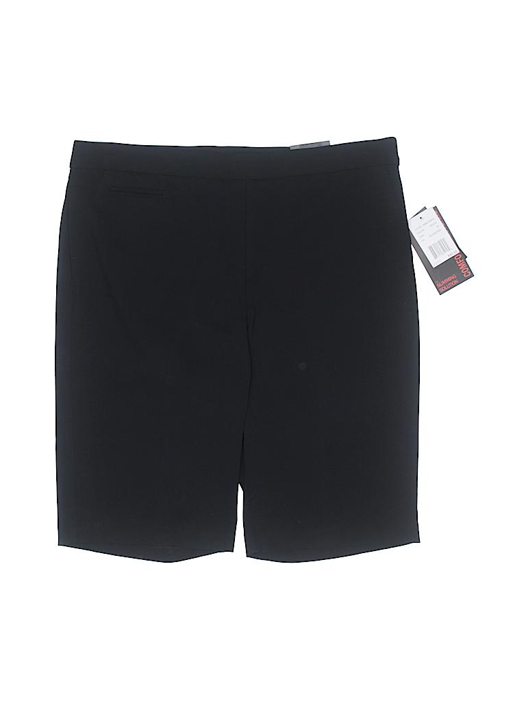 8c9200c34a505 Briggs New York Solid Black Dressy Shorts Size 16 - 67% off