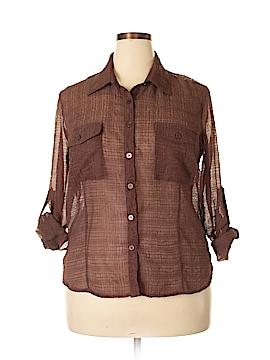 Elementz Long Sleeve Button-Down Shirt Size XL