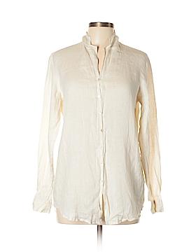 Dana Buchman Long Sleeve Button-Down Shirt Size 10