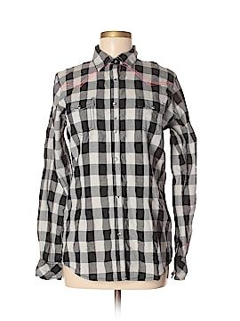 Rock Long Sleeve Button-Down Shirt Size M