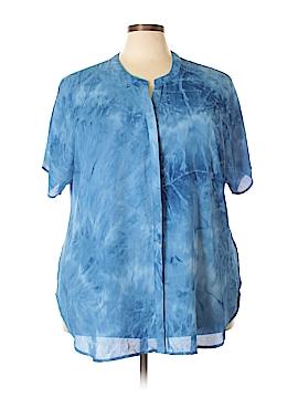 Faded Glory Short Sleeve Blouse Size 3X (Plus)