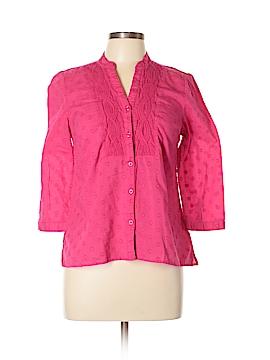 Charter Club 3/4 Sleeve Button-Down Shirt Size 10 (Petite)