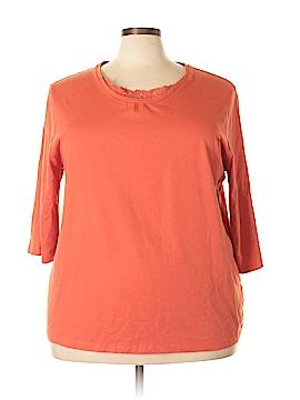 Liz & Me 3/4 Sleeve T-Shirt Size 2X (Plus)