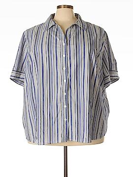 Liz & Me Short Sleeve Button-Down Shirt Size 5X (Plus)