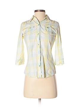 Vans 3/4 Sleeve Button-Down Shirt Size S