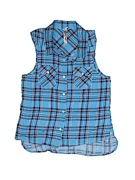 Beautees Sleeveless Button-Down Shirt Size L (Kids)