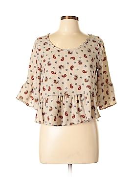 Peach Royal 3/4 Sleeve Blouse Size L