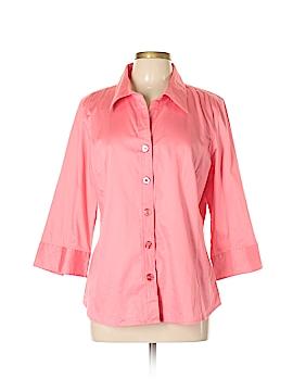 Studio 1940 3/4 Sleeve Button-Down Shirt Size XL