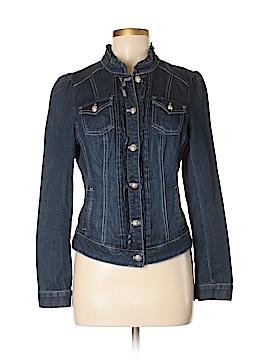 White House Black Market Denim Jacket Size 8