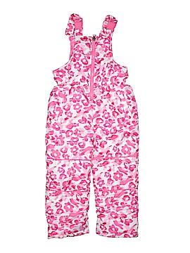 Pink Platinum Snow Pants With Bib Size 5 - 6