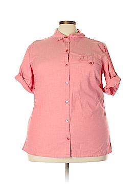 Liz & Me 3/4 Sleeve Button-Down Shirt Size 1X (Plus)