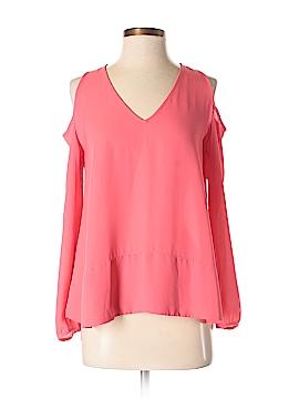 Aqua Long Sleeve Blouse Size S