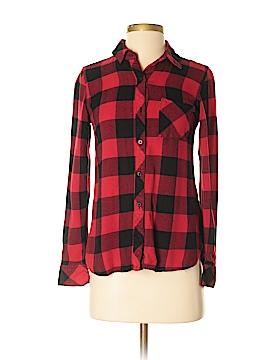 Abbot & Main Long Sleeve Button-Down Shirt Size XS