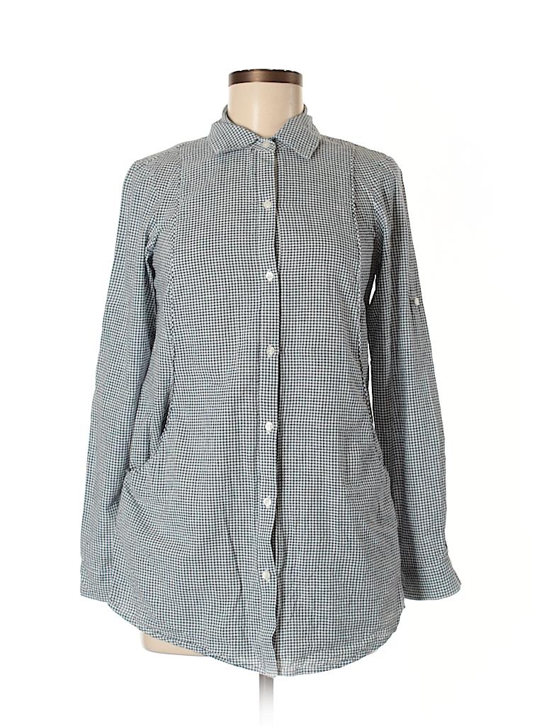 Fire Los Angeles Women Long Sleeve Button-Down Shirt Size M