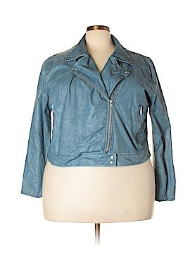 Lyssé Faux Leather Jacket Size 2X (Plus)