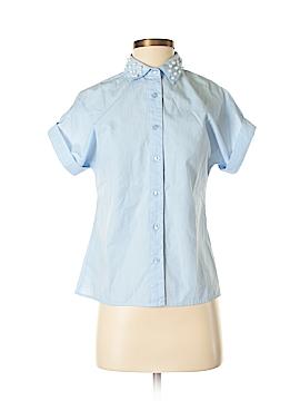 Dizzy Lizzy Short Sleeve Button-Down Shirt Size XS