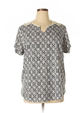 Northcrest Short Sleeve Top Size 1X (Plus)