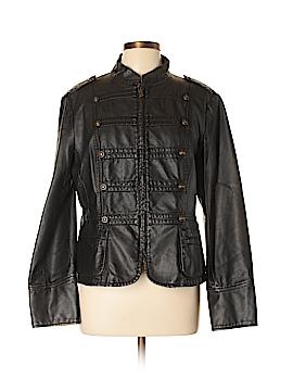 Gallery Faux Leather Jacket Size L