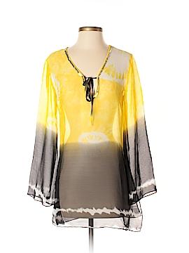 B. Split Long Sleeve Blouse Size S
