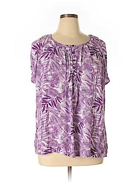 Laura Scott Short Sleeve Blouse Size 1X (Plus)