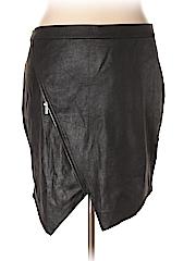 JunaRose Women Faux Leather Skirt Size 2X (Plus)