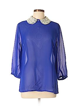 Dizzy Lizzy 3/4 Sleeve Blouse Size L