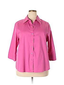 Foxcroft 3/4 Sleeve Button-Down Shirt Size 16W