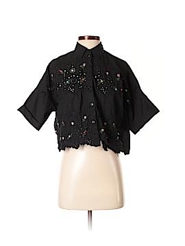 Topshop Short Sleeve Button-Down Shirt Size 2
