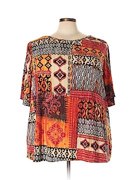 Susan Graver Short Sleeve Top Size 3X (Plus)