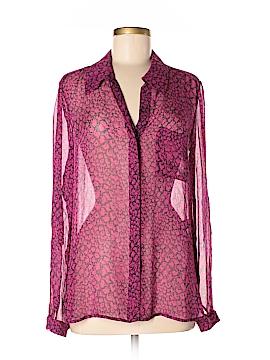 Diane von Furstenberg Long Sleeve Silk Top Size 12